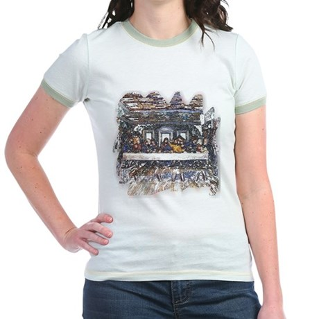 Lord's Last Supper Jr. Ringer T-Shirt
