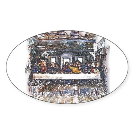 Lord's Last Supper Oval Sticker