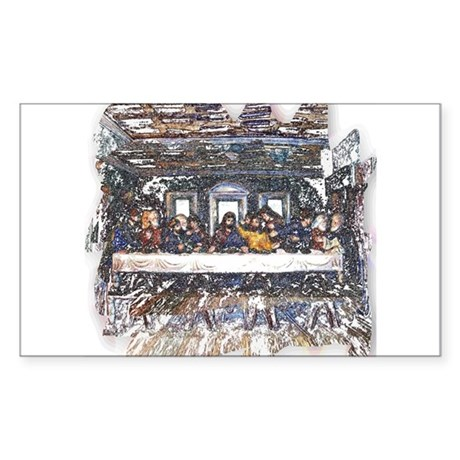 Lord's Last Supper Rectangle Sticker