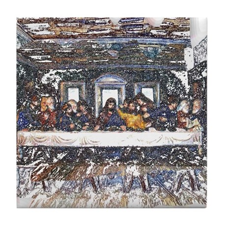 Lord's Last Supper Tile Coaster