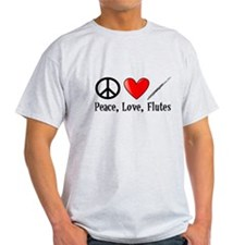 Peace, Love, Flutes T-Shirt