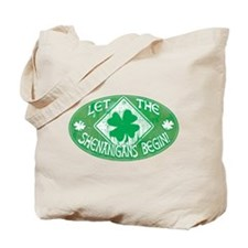 Shenanigans Begin Green Tote Bag