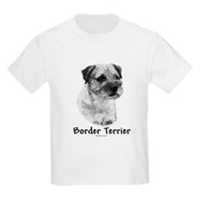 Border Terrier Charcoal Kids T-Shirt