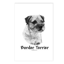 Border Terrier Charcoal Postcards (Package of 8)