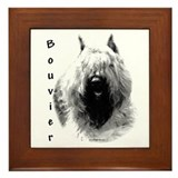Bouvier Charcoal Framed Tile