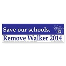 Save our Schools Bumper Bumper Sticker