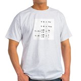 Maxwell Equations T-Shirt (white) T-Shirt