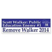 Public Education Enemy #1 Bumper Bumper Sticker