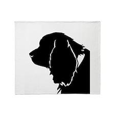 Sussex spaniel silhouette Throw Blanket