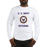 Long Sleeve Navy Veteran T-Shirt