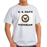 Ash Grey Navy Veteran T-Shirt