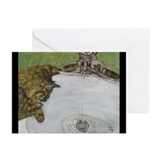 Cat Watching Water Greeting Cards (Pk of 10)