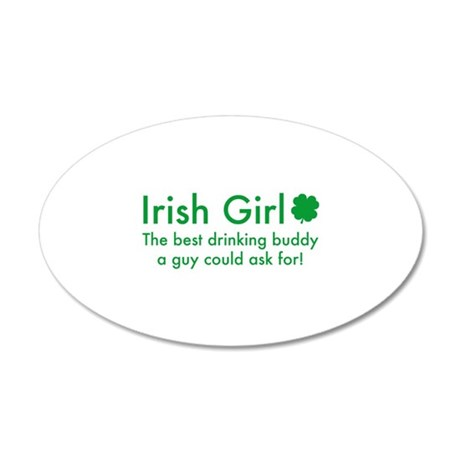 Irish Girl 38.5 x 24.5 Oval Wall Peel