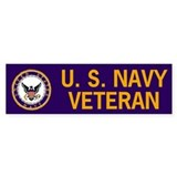 Navy Veteran Bumper  Bumper Sticker