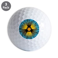 Iris with radiation warning sign - Golf Ball