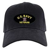Black Navy Veteran Baseball Cap