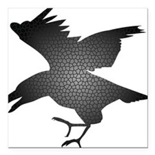 "crow Square Car Magnet 3"" x 3"""