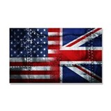 UK USA FLAG - Car Magnet 20 x 12