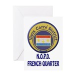 New Orleans Police French Quarter Greeting Card