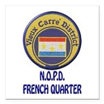 New Orleans Police French Quarter Square Car Magne