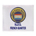 New Orleans Police French Quarter Throw Blanket