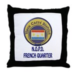 New Orleans Police French Quarter Throw Pillow