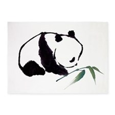 Chinese Panda art 5'x7'Area Rug