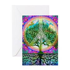 Tree of Life World Peace Greeting Card