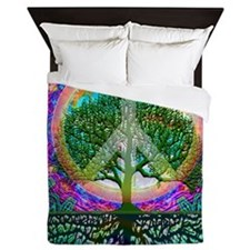 Tree of Life World Peace Queen Duvet