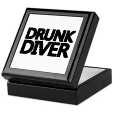 'Drunk Diver' Keepsake Box