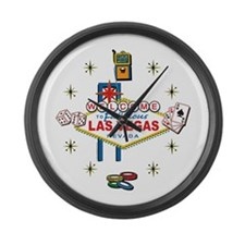 Las Vegas - Icons Large Wall Clock