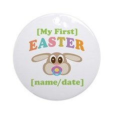 PERSONALIZE Baby Rabbit Easter Ornament (Round)