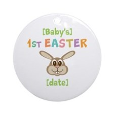 PERSONALIZE 1st Easter Bunny Ornament (Round)