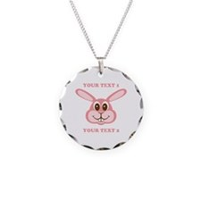 PERSONALIZE Pink Bunny Necklace