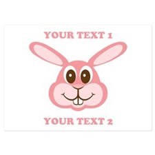 PERSONALIZE Pink Bunny Invitations