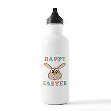 Happy Easter Bunny Sports Water Bottle