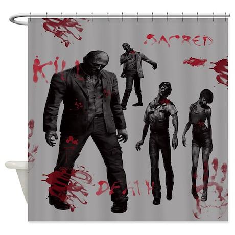 Zombie Shower Curtain By Cheriverymery