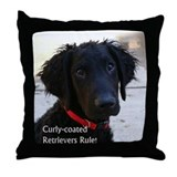 Unique Curly coated retriever Throw Pillow