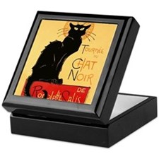 Famous black cat French Keepsake Box