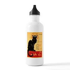 French Black Cat Water Bottle