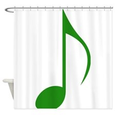 Green Eighth Note Shower Curtain