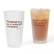 'Mountains' Drinking Glass
