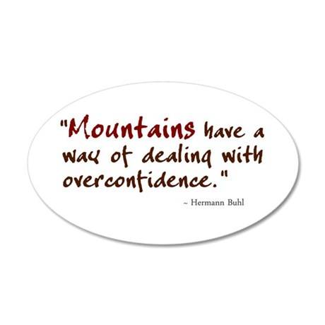 'Mountains' 20x12 Oval Wall Decal