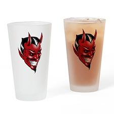 Devil Red Drinking Glass