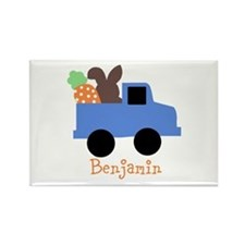 Easter time truck personalized Rectangle Magnet