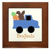 Easter time truck personalized Framed Tile