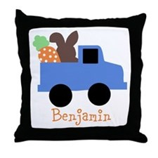 Easter time truck personalized Throw Pillow
