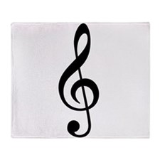 Treble Clef Throw Blanket