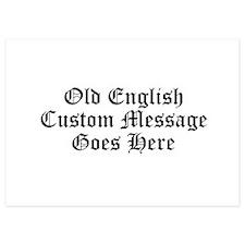Old English Custom Message Invitations