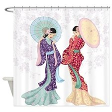 Geisha Shower Curtains | Geisha Fabric Shower Curtain Liner